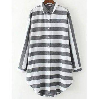 Striped Long Loose Shirt