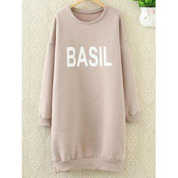 Loose Letter Long Sweatshirt