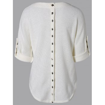 Loos Fit One Pocket Rivets Embellished Knitwear - 2XL 2XL