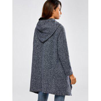 Hooded Asymmetric Loose Sweater - ONE SIZE ONE SIZE