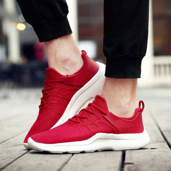 Mesh Breathable Athletic Shoes - RED 44