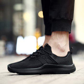 Mesh Breathable Athletic Shoes - BLACK 42