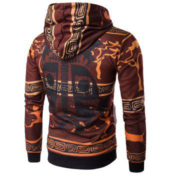 3D Ethnic Style Cartoon Print Pullover Hoodie - COLORMIX M
