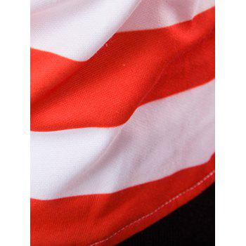3D Star USA Flag Printed Pullover Hoodie - RED M