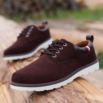 Lace Up Suede Shoes Casual - BRUN 43