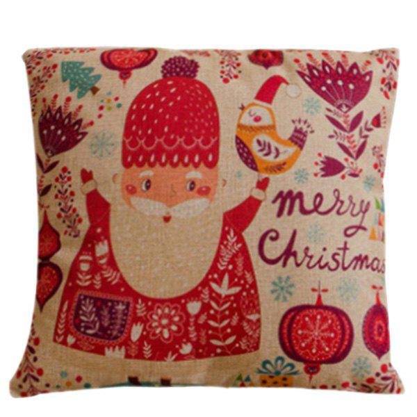Festival Cartoon Santa Claus Soft Pillow Case soft warm plush cartoon santa claus hat cap for christmas red white