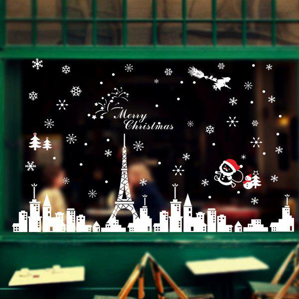 Merry Christmas City Removable DIY Wall Stickers Window Decoration