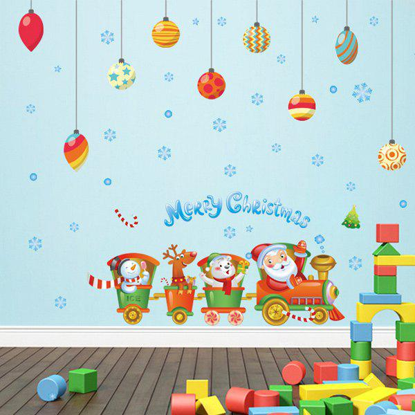Merry Christmas DIY Cartoon Wall Stickers Kids Room Decoration 3d flower fairy style kids room decoration luminous stickers multicolor