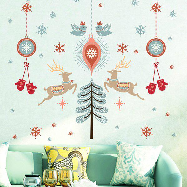 Merry Christmas Removable DIY Vinyl Living Room Wall Stickers removable colorful christmas penguins children s room wall stickers