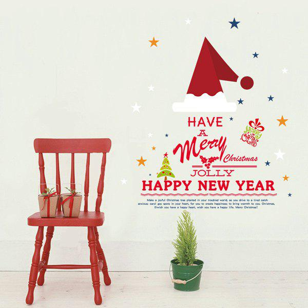 Christmas Festival Removable DIY Window Wall Stickers new audio ip camera video surveillance security cctv camer network ir dome ip cam with external microphone