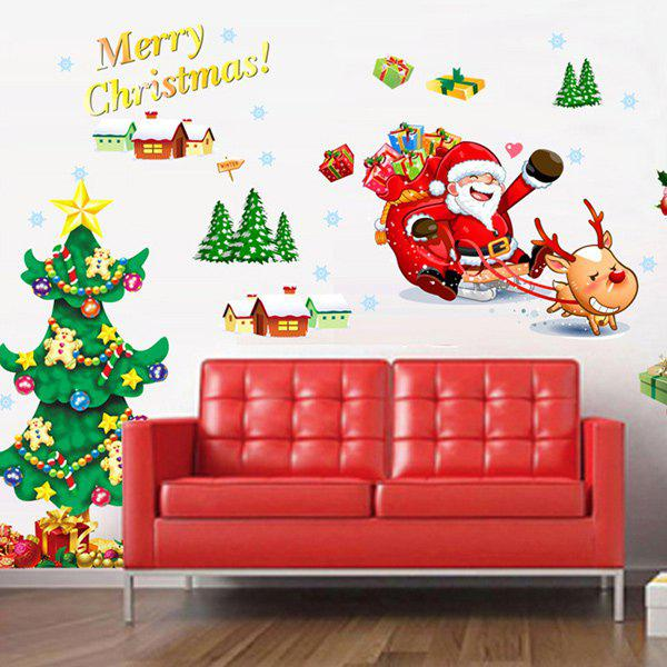 Merry Christmas Removable DIY Living Room Wall Stickers merry christmas removable waterproof room decor wall stickers