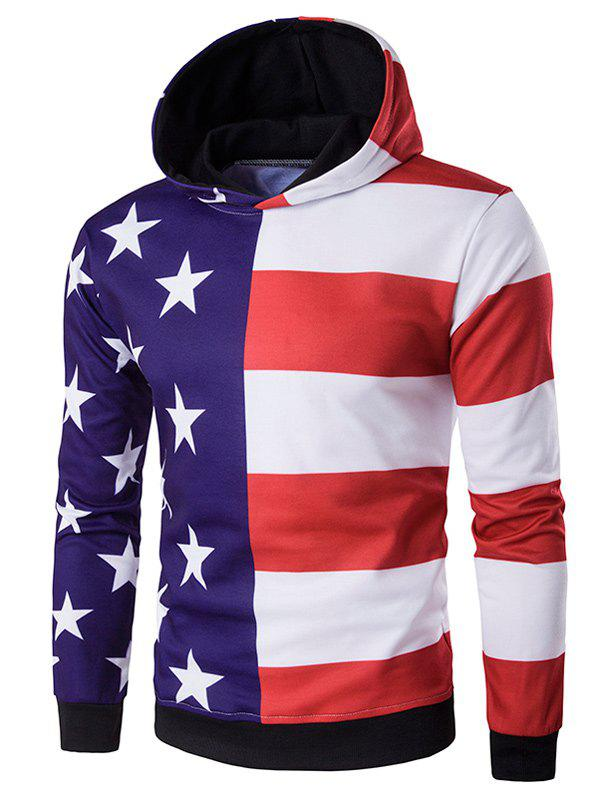 3D Stars and Stripes Print Hoodie augustus nyakundi the translation of figurative language