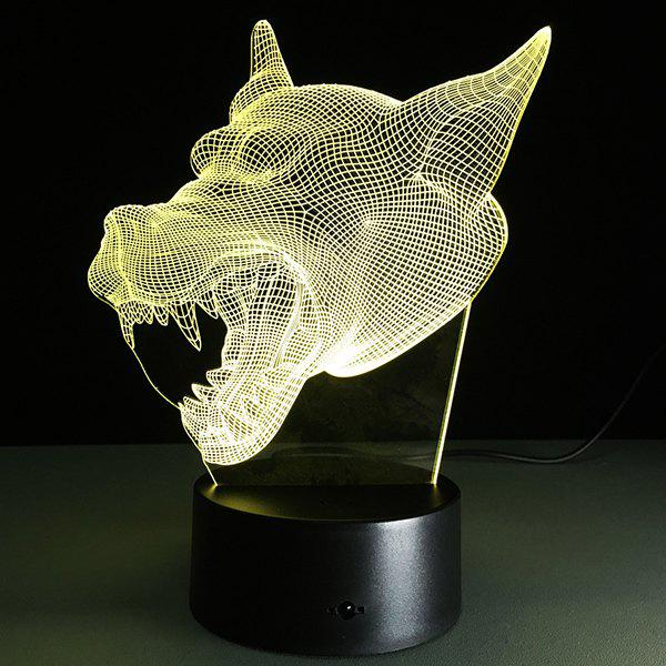 3D Bulbing Light Werewolf Pictures 7 Color Changing Night Light - TRANSPARENT