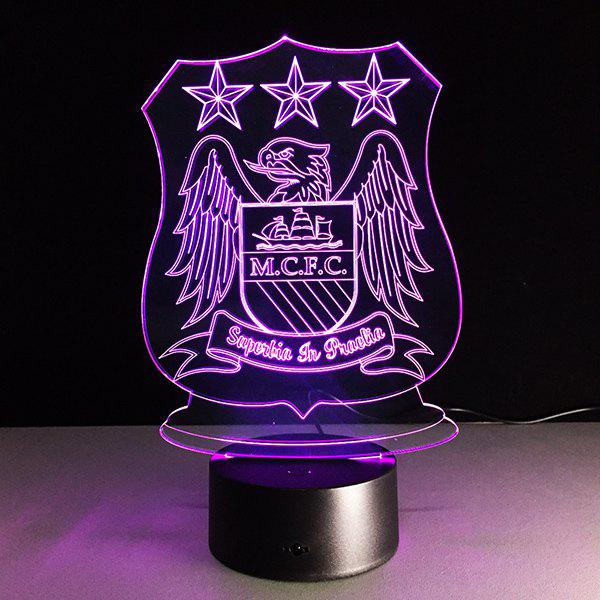 3D Bulbing Light Trophy 7 Color Changing Night Light - TRANSPARENT