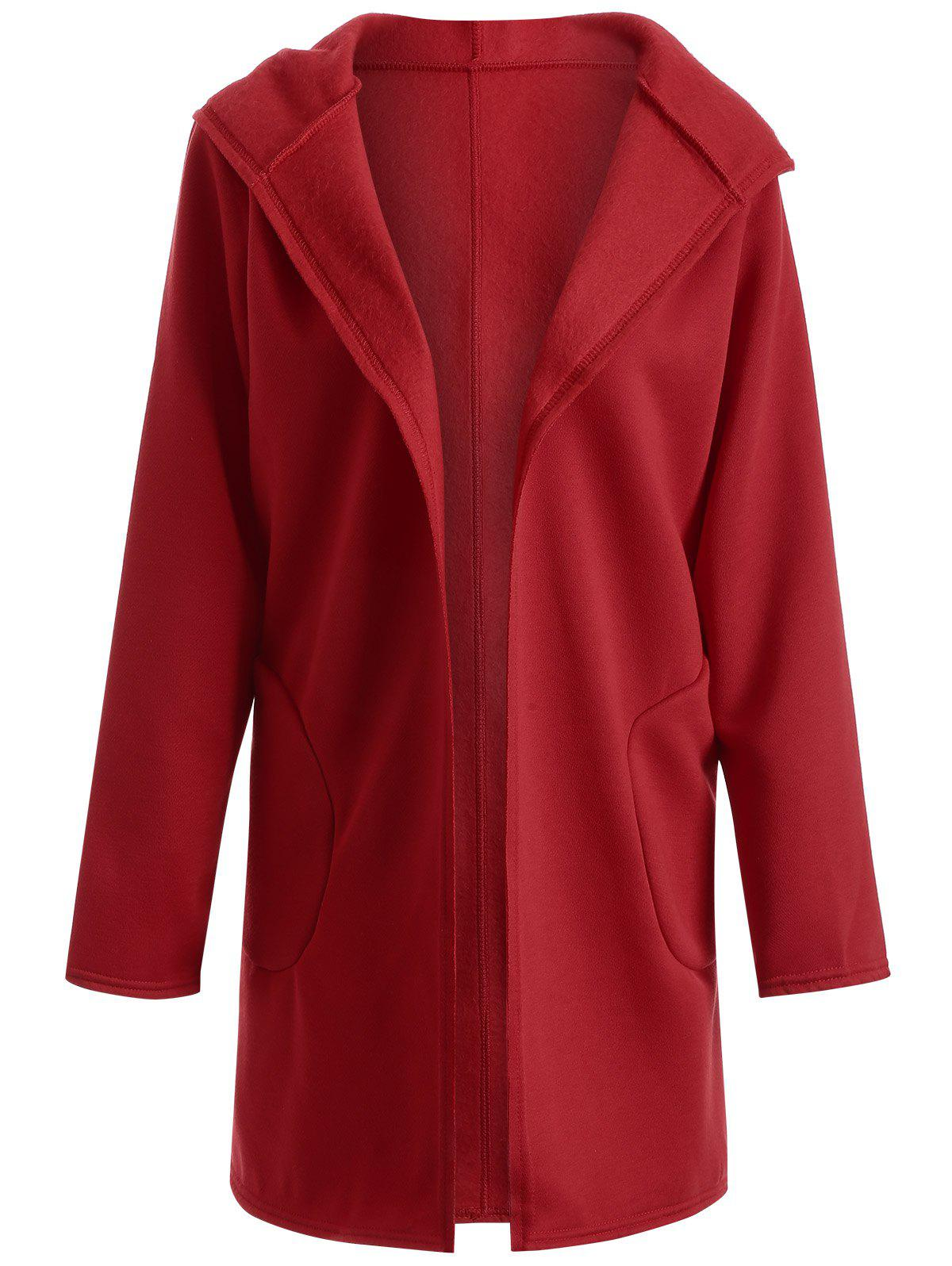 2018 Big Pocket Hooded Long Cardigan RED XL In Sweaters ...