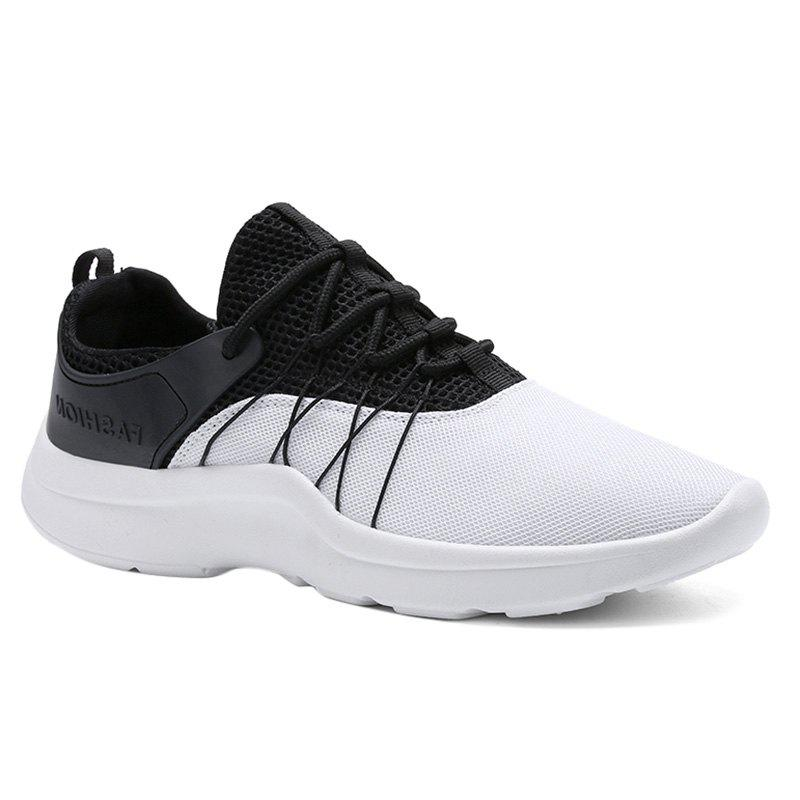 Mesh Breathable Athletic Shoes - WHITE 44