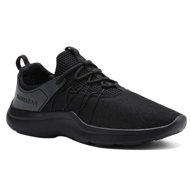 Mesh Breathable Athletic Shoes - BLACK 40