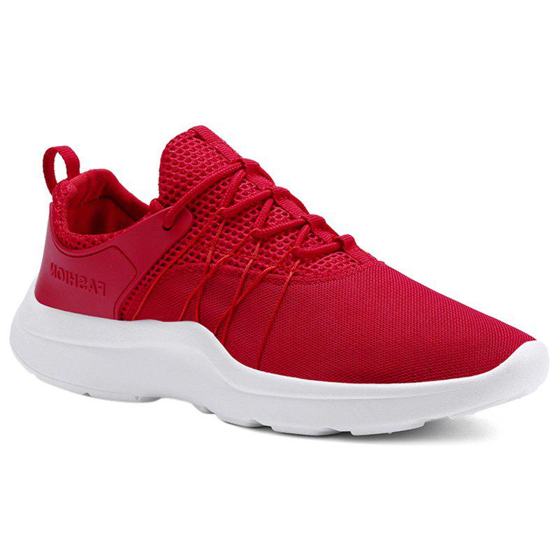 Mesh Breathable Athletic Shoes - RED 41