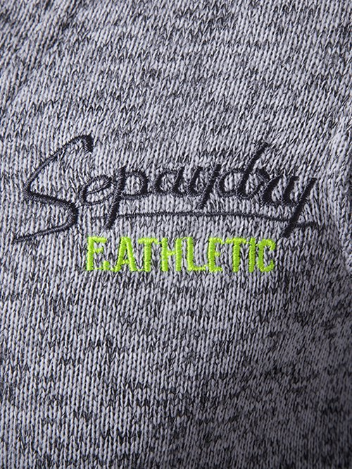 Graphic Embroidery  Drawstring Cotton Blends Hoodie - LIGHT GRAY XL
