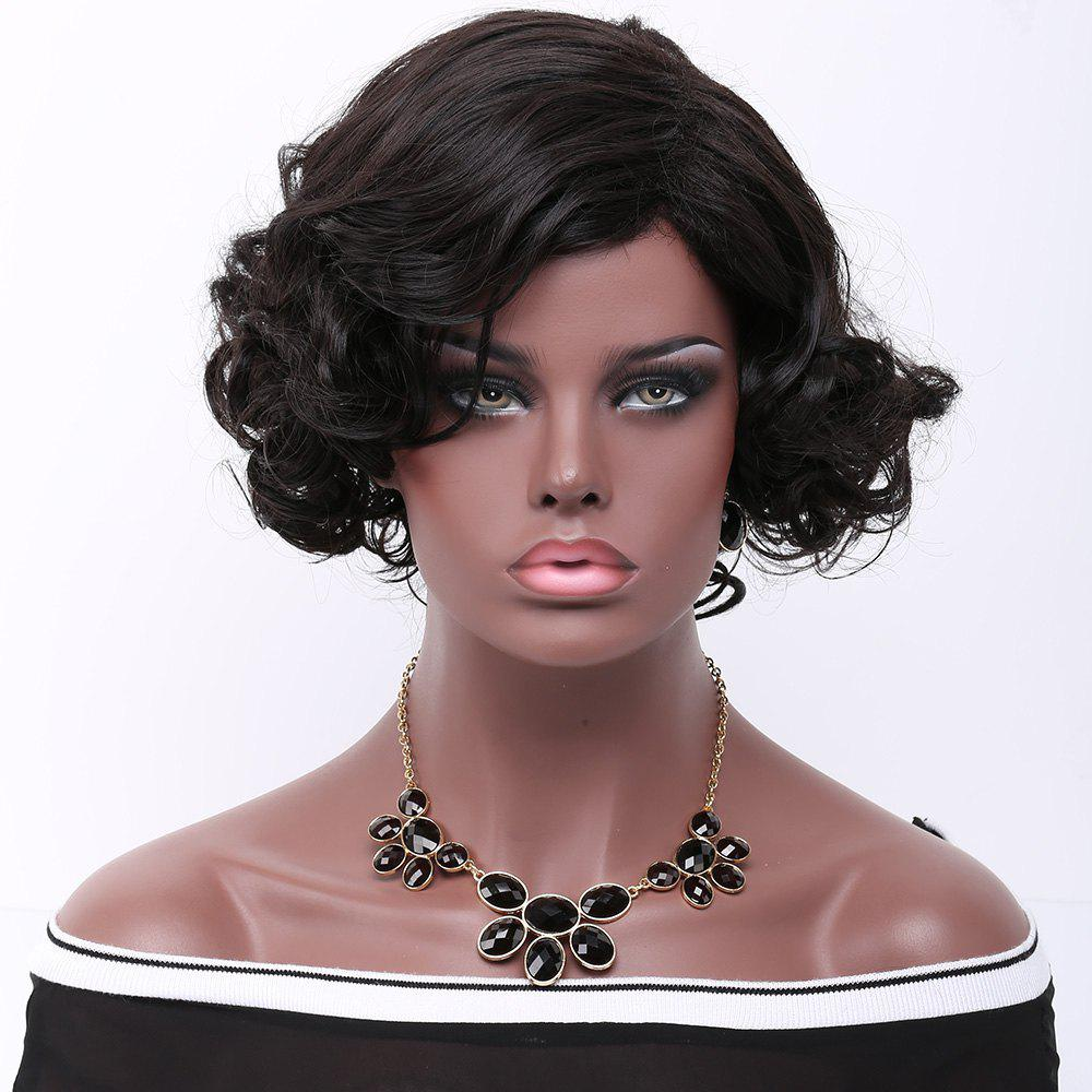 Curly Side Parting Short Synthetic Wig
