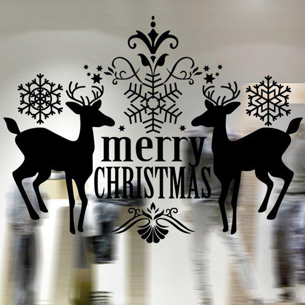 Christmas Deer Removable Waterproof Room Decor Wall Stickers removable colorful christmas penguins children s room wall stickers