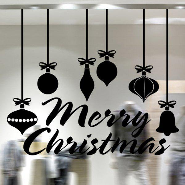 Christmas Pendants Removable Window Decor Wall StickersHome<br><br><br>Color: BLACK