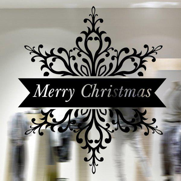 Merry Christmas Banner Removable Window Decor Wall Stickers merry christmas removable waterproof room decor wall stickers