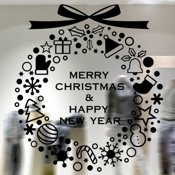 Merry Christmas Removable Window Decor Wall Stickers merry christmas removable waterproof room decor wall stickers