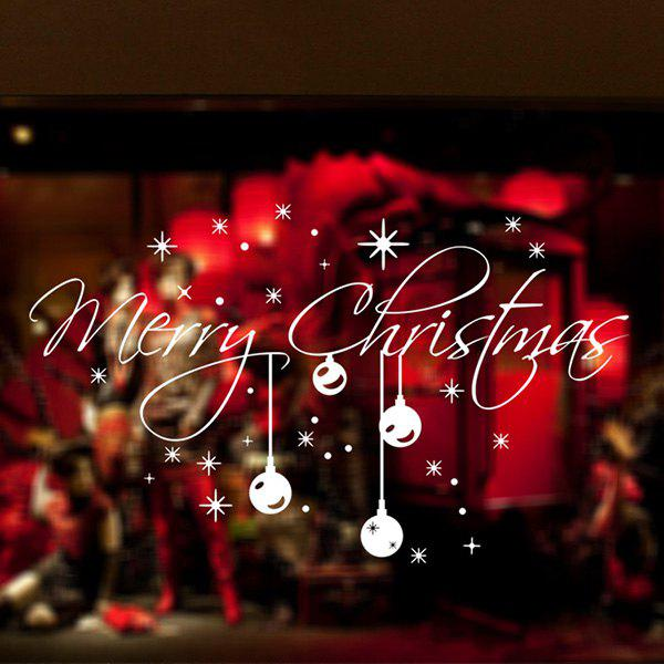 Merry Christmas Snowflake Glass Window Removable Wall Stickers