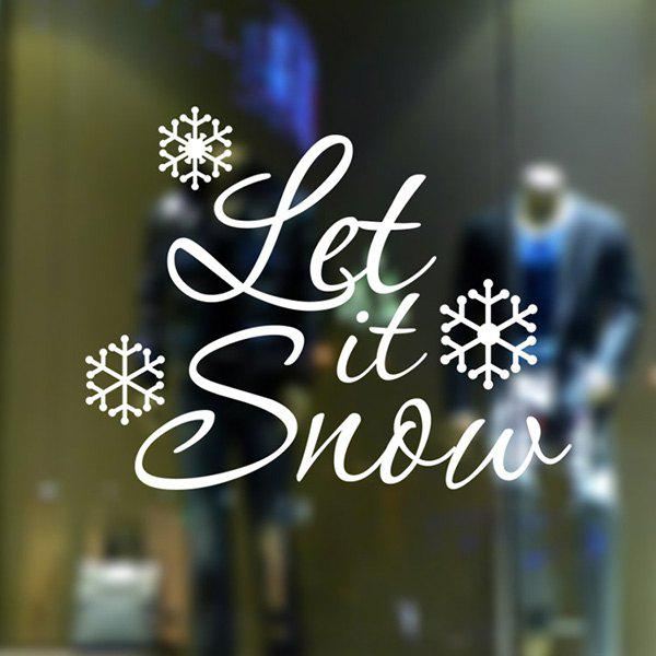 Christmas Let It Snow Glass Window Removable Wall Stickers green j let it snow