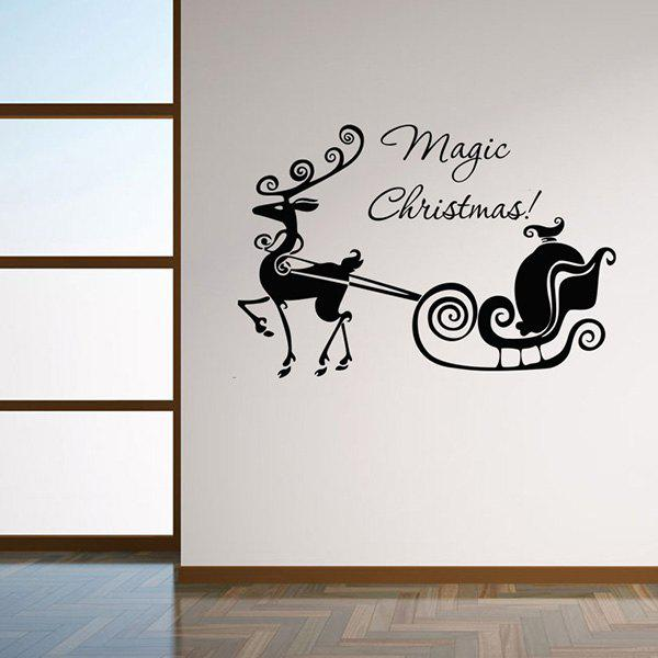 Magic Christmas Glass Window Removable Wall Stickers умные часы suunto core lime crush ss020693000