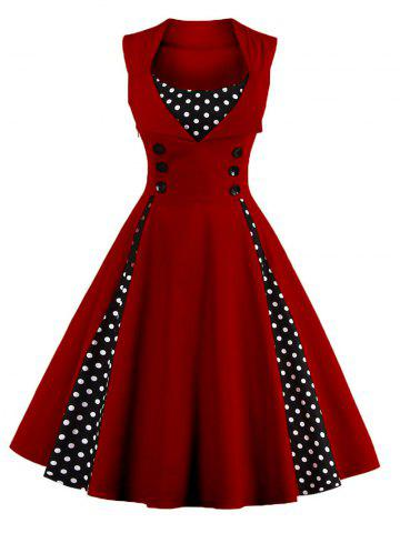 c89258ff3b545 2019 Polka Dot Pin Up Dress Online Store. Best Polka Dot Pin Up ...