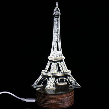 3D Visual Eiffel Tower Room Decor LED Night Light