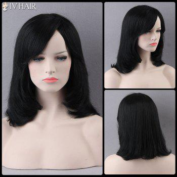 Medium Side Bang Straight Prevailing Siv Human Hair Wig