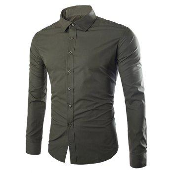 Shirt Collar Single Breasted Long Sleeve Shirt