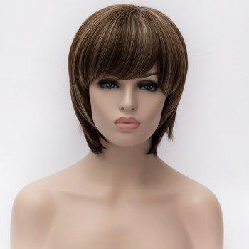Skilful Women's Mult-Color Short Capless Heat Resistant Synthetic Wig -  COLORMIX