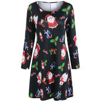 Christmas Santa Claus Print Dress