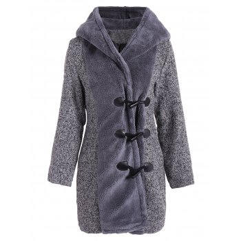 Duffle Hooded Coat - GRAY L