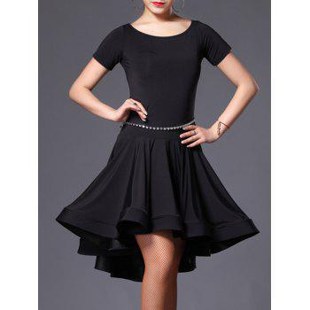 Cut Out Asymmetrical Dance Dress