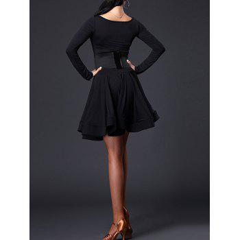 Long Sleeve Slimming A Line Dance Dress - L L