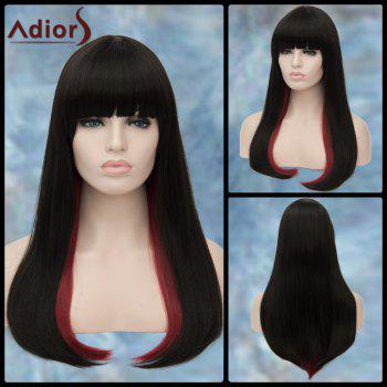 Long Full Bang Straight Tail Adduction Double Color Adiors Lolita Synthetic Wig