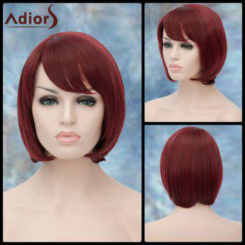 Short Side Bang Straight Bob Haircut Lolita Adiors Synthetic Wig