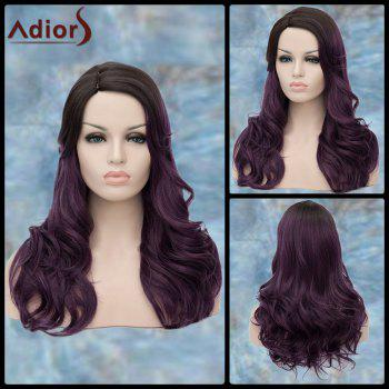 Long Side Parting Curly Purple Ombre Adiors Synthetic Lolita Wig