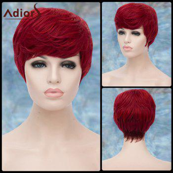 Short Neat Bang Fluffy Straight Adiors Lolita Synthetic Wig