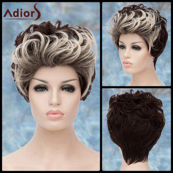 Short Fluffy Curly Double Color Adiors Lolita Synthetic Wig