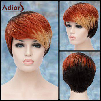 Multicolor Short Straight Side Bang Adiors Lolita Synthetic Wig