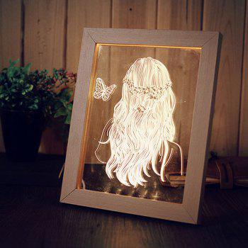 Creative Wooden Photo Frame LED Night Light Hoom Decoration