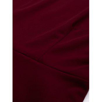 Panel Color Block Swing Dress - WINE RED WINE RED