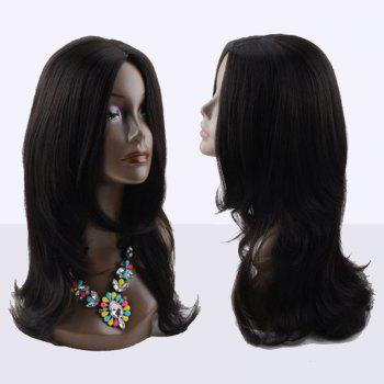Long Middle Parting Slightly Curled Kanekalon Synthetic Wig