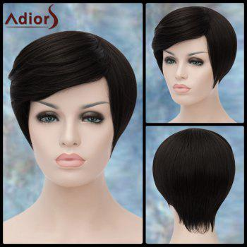 Adiors Short Oblique Bang Spiffy Straight Synthetic Wig